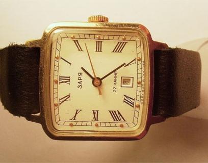 Стоимость наручных часов заря купить часы армани