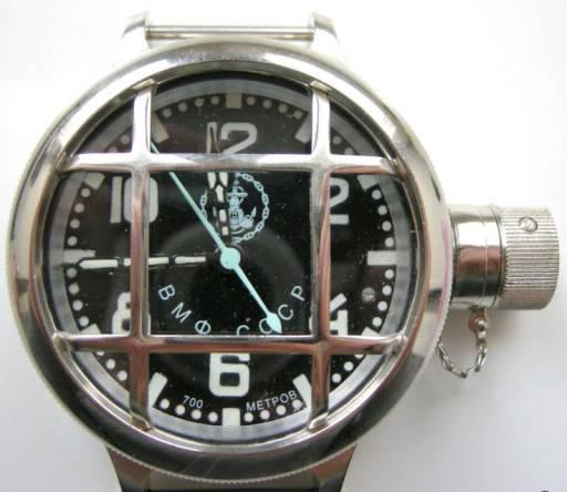Подводные часы 191ЧС, для ВМФ СССР. асы Водолазные вмф СССР якорь