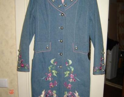 Джинсовые пальто женские с вышивкой 21