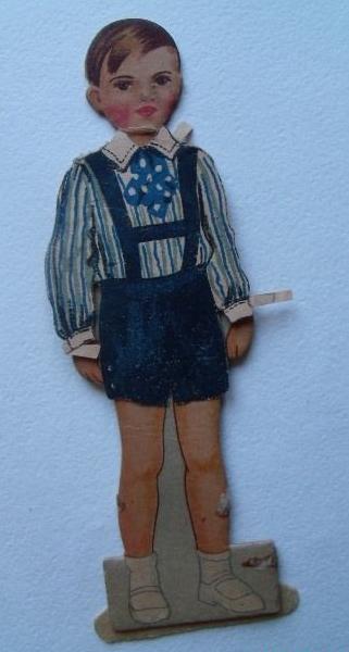 Кукла из картона для детей