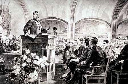 Image result for сталин выступает фото