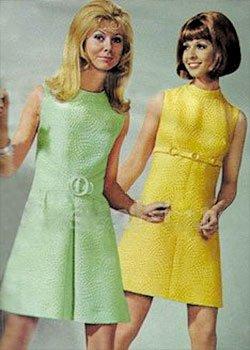 Кримпленовое платье 70-х